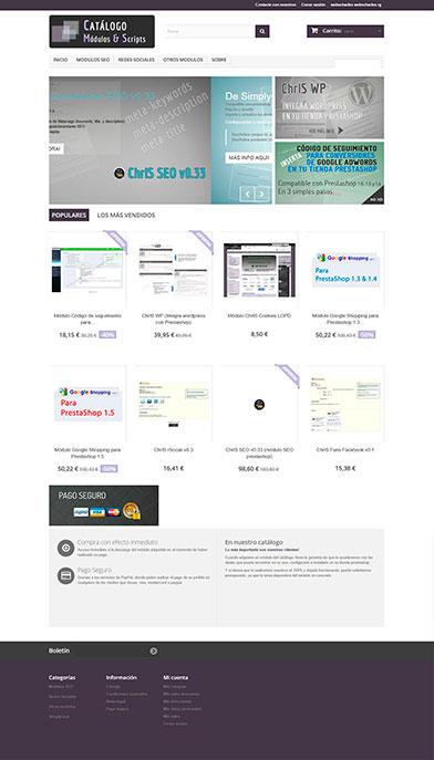 Catálogo Webscharles – Tienda de módulos Prestashop